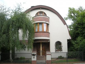 Dom jednorodzinny przy ul. Wojtkiewicza.