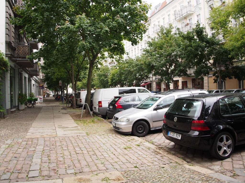 Drzewa na jednej ze śródmiejskich ulic Berlina.