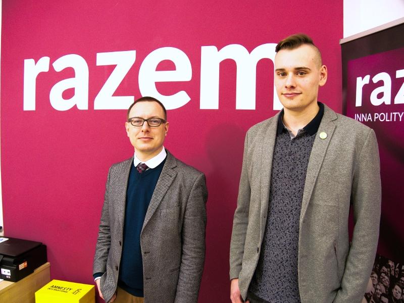 Dr Iwo Augustyński (Razem) i Paweł Pomian (Zieloni)