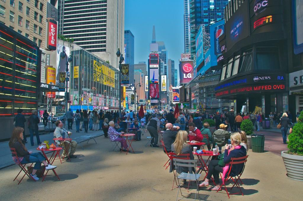 Times Square po zamianach. Źródło: flickr.com, fot. Ed Yourdon