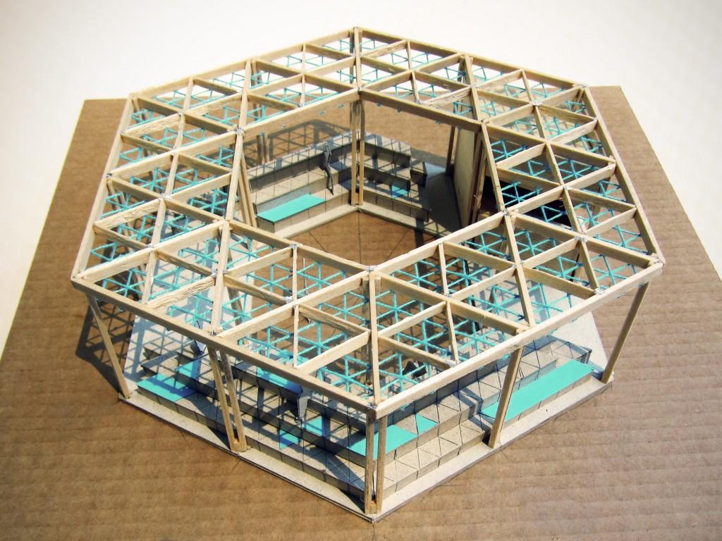 Makieta tegorocznego Archi-boxu. Menthol Architects