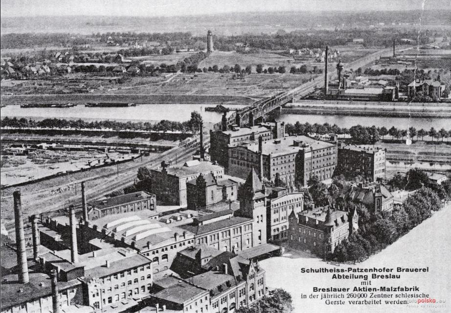 Widok kompleksu browaru, ok. 1915-30, fotopolska.eu