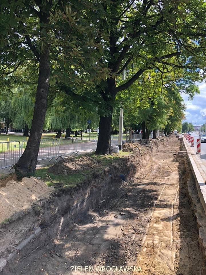 Budowa chodnika przy ul. Grabiszyńskiej wzdłuż Hutmenu