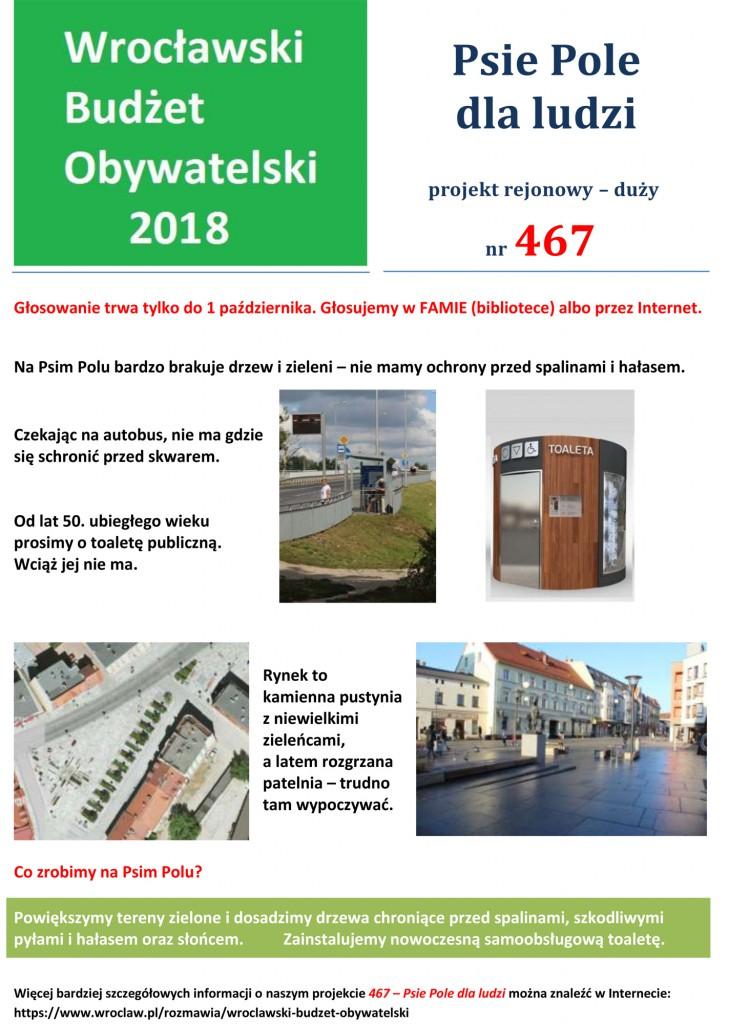 PlakatPsie Pole dla ludzi2018