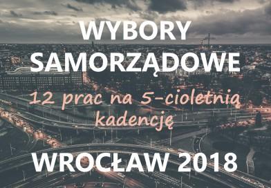 5 kandydatów chce postawić na poprawę jakości życia we Wrocławiu